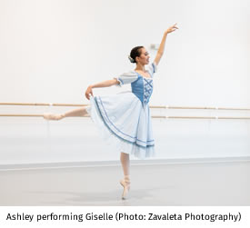 Ashley performing Giselle