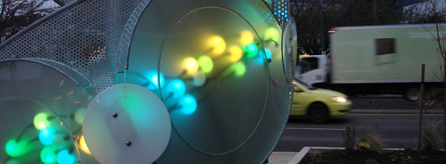 Lightwave public art by Bruce Voyce