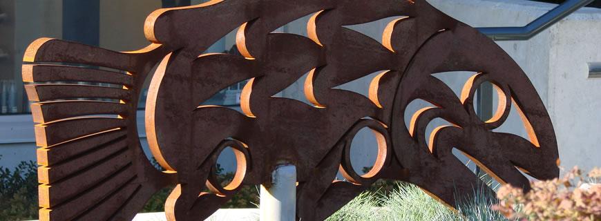 Return of the Spawning Salmon public art by Jody Broomfield
