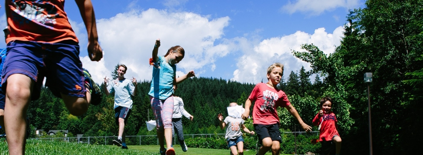 Kids Playing Outdoors at Camp