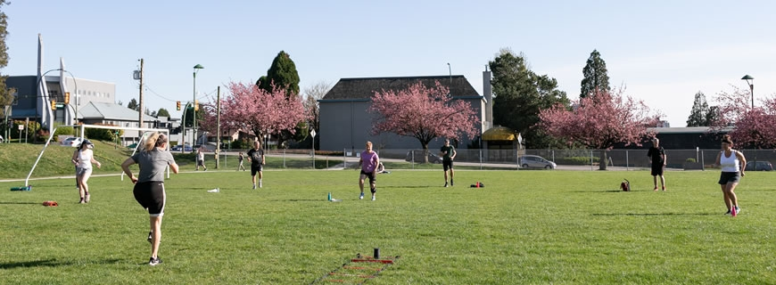 outdoor fitness at Norseman Field