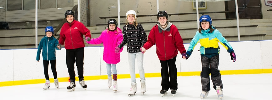 skating with instructors