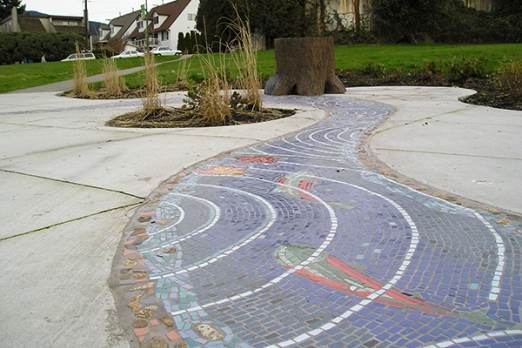 public art, mosaic, North Vancouver, Bruce Walther